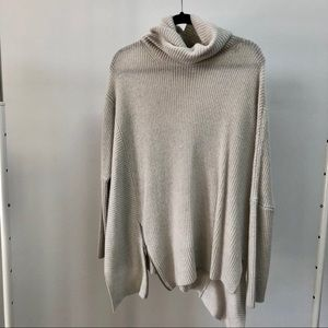 All Saints Poncho with zip (light grey)